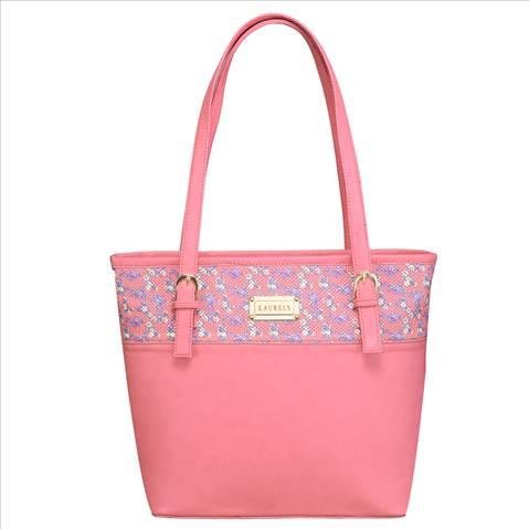 Laurels Tote Shoulder Handbag-Pi....