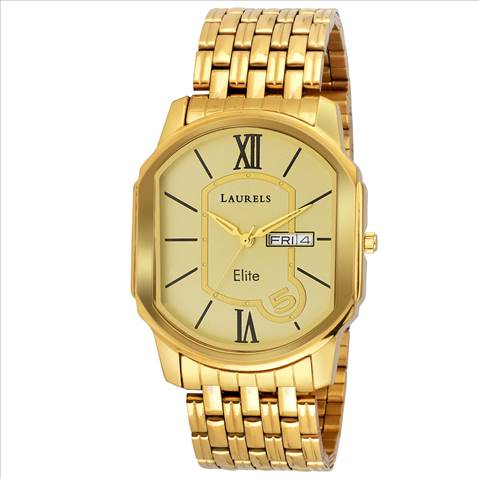 Laurels Gold Color Day & Date An....