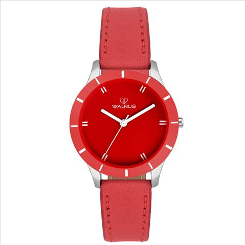 Walrus Eve Red Color Analog Wome....