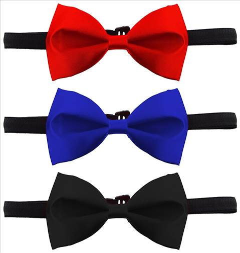 Billebon Combo of Bow tie for tuxedo- Red, Royal Blue and Black-IX-034R-3S8J