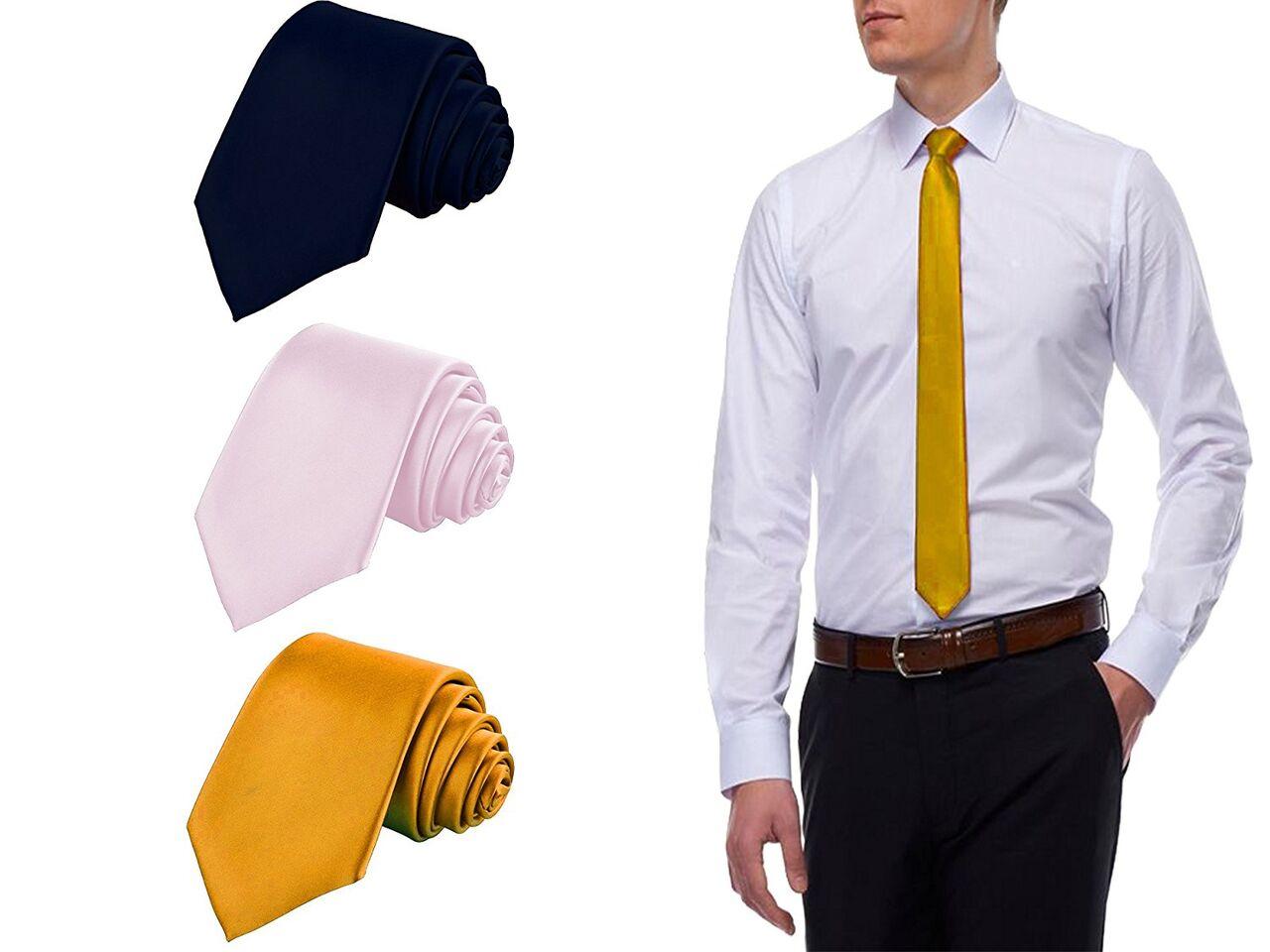 Men's Necktie Combo of 3 Classic....
